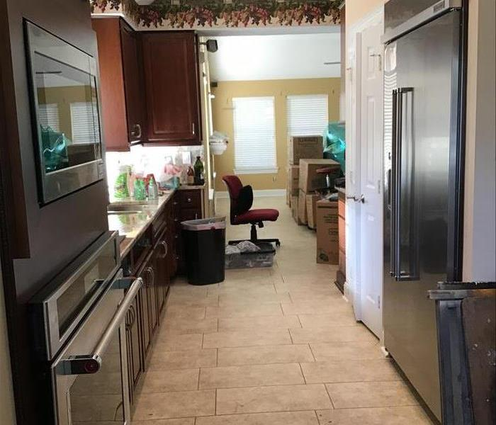 kitchen after flood from storm